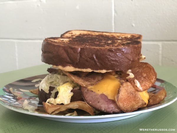 Turkey and the Wolf fried bologna sandwich