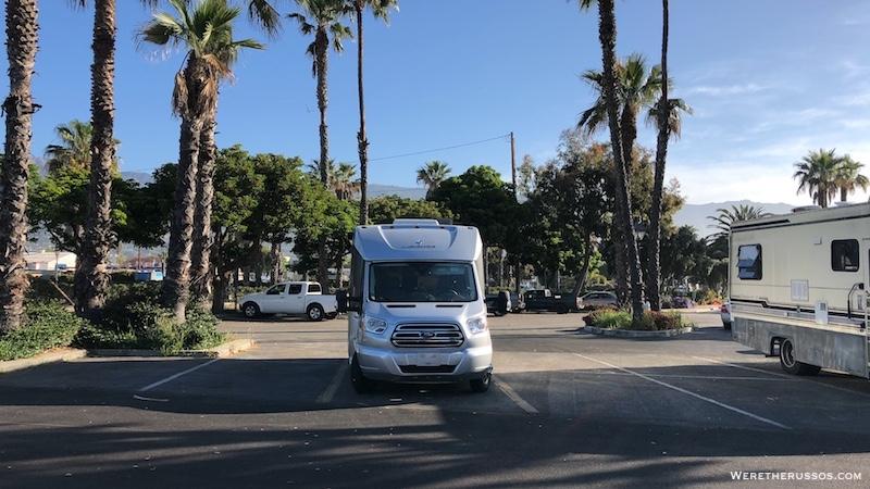 Santa Barbara RV Parking